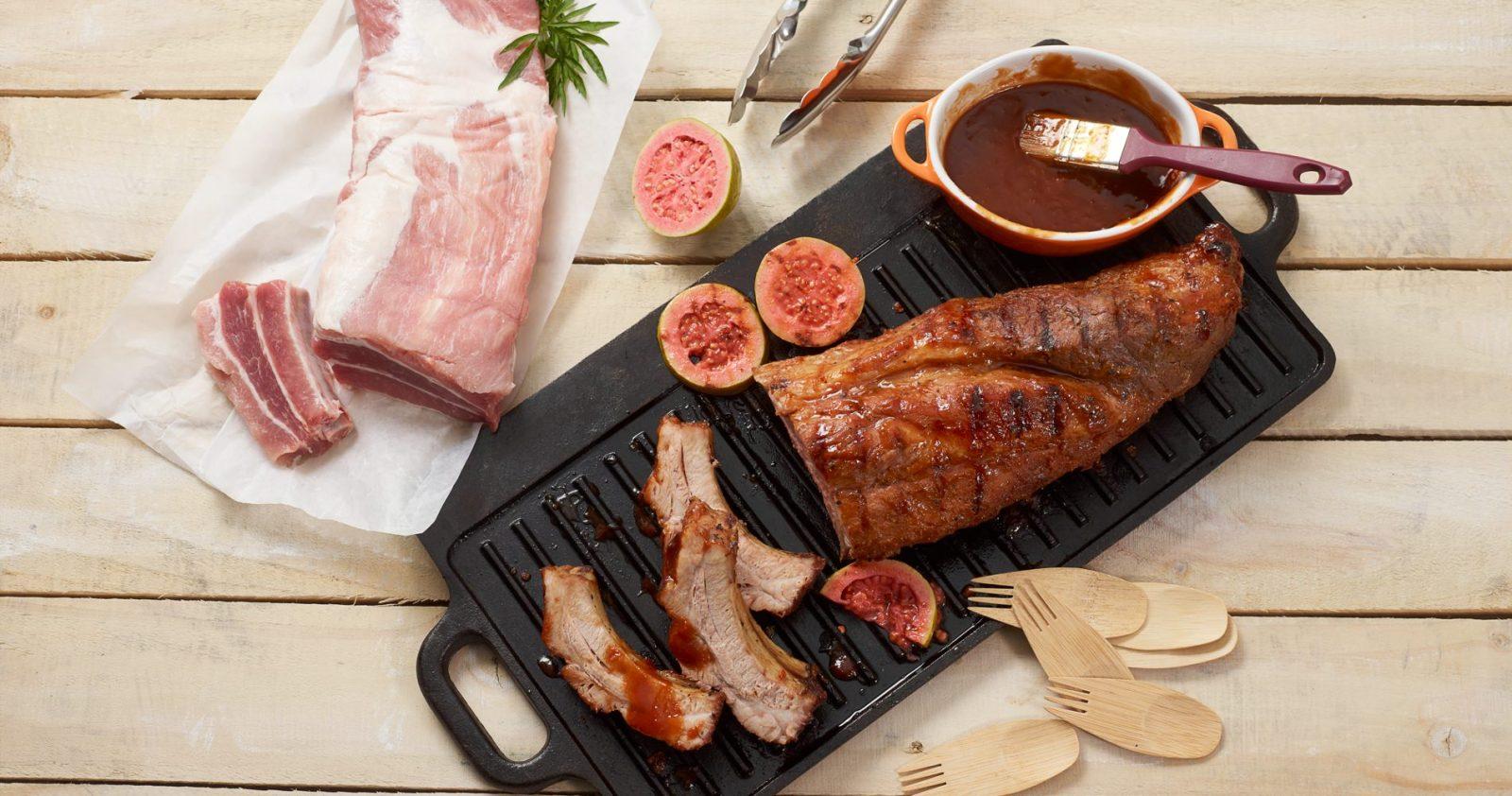 Costillas De Cerdo Con Salsa BBQ De Guayaba