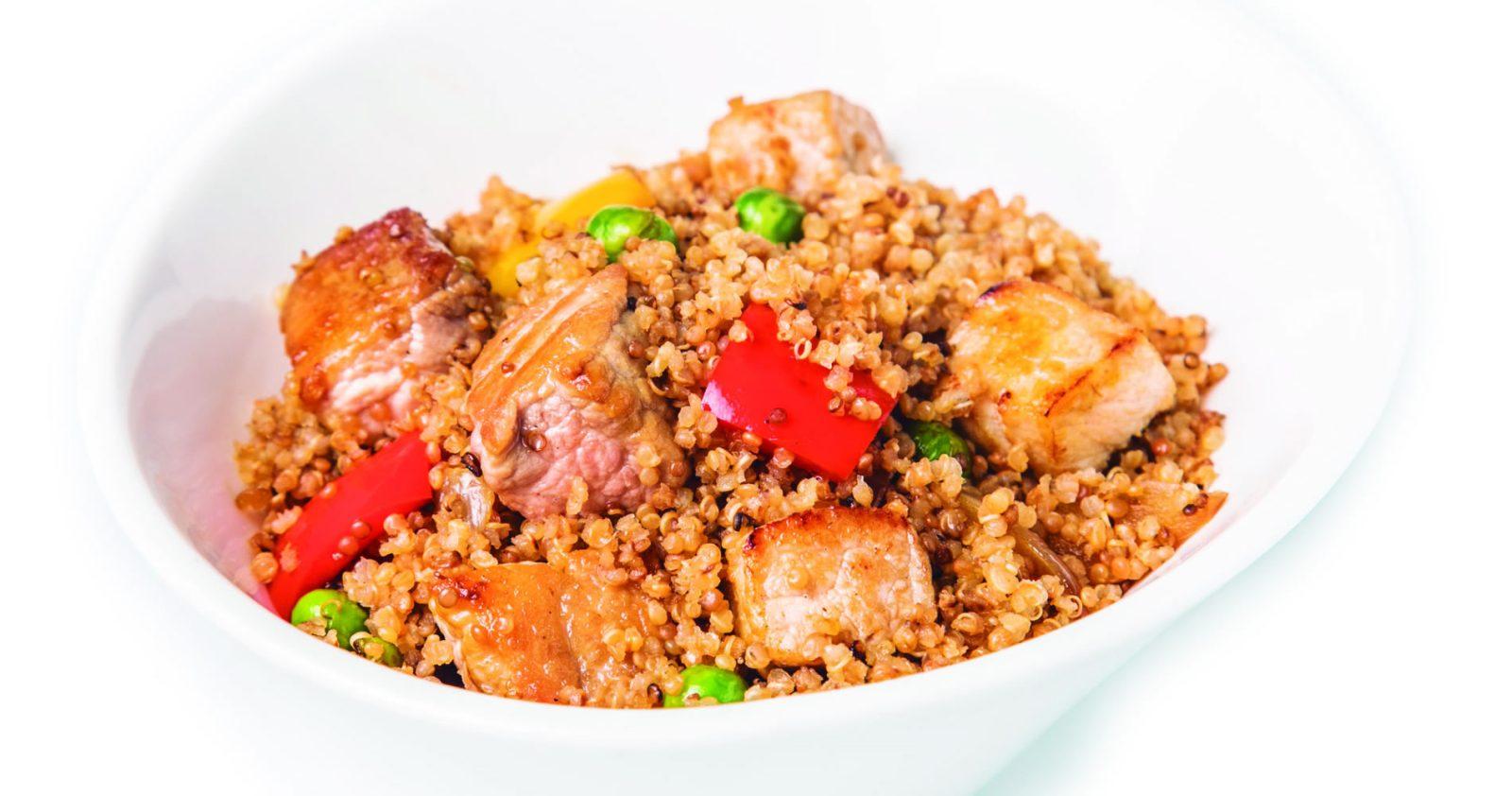 Chaufa De Solomito De Cerdo Y Quinoa