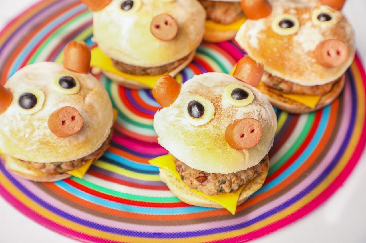Hamburguesas De Carne De Cerdo Divertidas