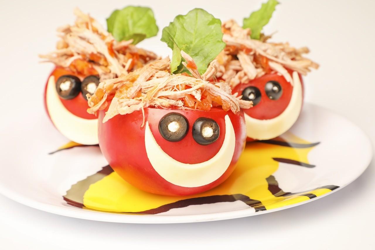 Tomates Sonrientes De Carne De Cerdo